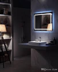 Lighted Bathroom Mirrors Diyhd Wall Mount Led Backlit Lighted Bathroom Mirror Vanity