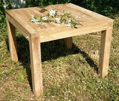 beautiful table de jardin bois carree contemporary amazing house
