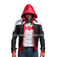 batman arkham knight red hood jason todd leather jacket