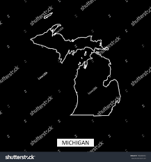 Michigan State Campus Map Michigan State Usa Map Vector Outline Stock Vector 748208944