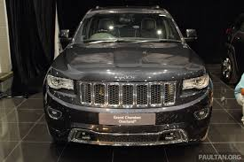 jeep grand cherokee tan jeep grand cherokee launched in malaysia rm469k