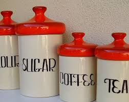 vintage kitchen canisters light up your kitchen with kitchen canisters wigandia