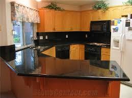 Granite Kitchen Countertops Black Galaxy Granite Kitchen Countertop Galaxy Black Granite From