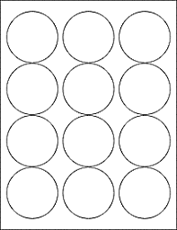 1 Inch Circle Template by Label Templates Ol350 2 5 Circle Labels Pdf