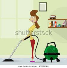 cartoon pictures of cleaning cleaning floor woman retro stock images royalty free images