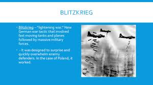 sec 1 u0027s lightening war ppt download