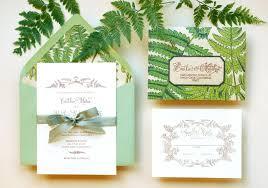 garden wedding invitations diy tutorial vintage fern wedding invitations