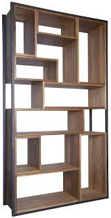 herman geometric metal and wood bookcase u2013 mortise u0026 tenon