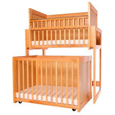 Baby Crib With Mattress Included L A Baby Stackable Modular Window Crib With Dual Fixed Side Rails