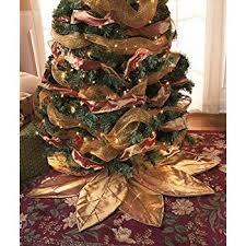 poinsettia tree gold poinsettia tree skirt home kitchen