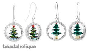 how to make captured swarovski tree earrings