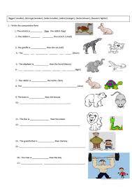 644 free esl comparison comparative and superlative worksheets