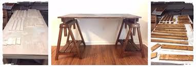 Diy Sawhorse Desk by Woodworking
