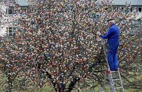 easter egg tree this german family spent more than 2 weeks decorating a tree with