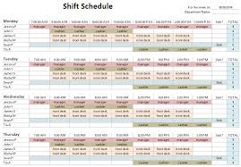 24 Hour Work Schedule Template Excel Shift Schedule Templates 28 Images Shift Work Schedule