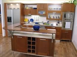 retro modern kitchen design with wooden table top organizer black