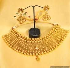 gold choker necklace set images Buy royal gold look kundan choker necklace set online JPG