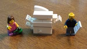 lego tutorial office copy machine copier youtube