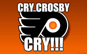 Flyers Meme - cry crosby cry flyers quickmeme