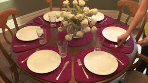 Table Place Mats How To Fit Placemats On A Round Table Youtube