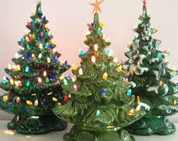 Ceramic Christmas Tree With Lights For Sale Etsy Your Place To Buy And Sell All Things Handmade