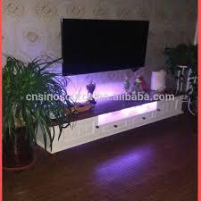 wholesale new modern led light wooden tv stand and tv racks