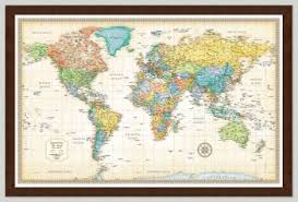 travel world map framed world maps to pin travels