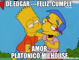 Millhouse Meme - de edgar feliz cumple amor platonico milhouse meme de bart y
