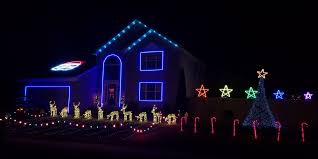 holiday light and sound show electronic house