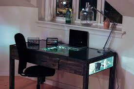 terrarium desk with computer terrarium work desk pinterest