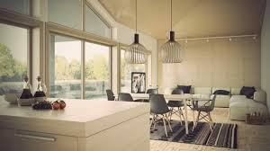 Open Plan Kitchen Living Room Lighting - kitchen living room pretty white licious incredible design with
