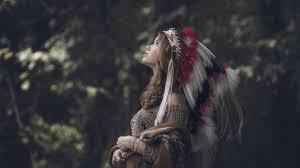 native american brunettes nature headdress walldevil