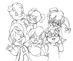 chipettes from alvin and the chipmunks coloring pages for kids