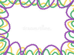 mardi gras picture frame mardi gras frame isolated on white background stock image