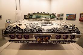 black and white 1968 chevrolet impala lowrider called el muertor