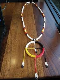 indian beaded necklace images Native american indian authentic beaded necklace medicine wheel jpg
