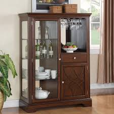 Lighted Display Cabinet Curio Cabinet Howard Miller Cherry Finish Curio Display Cabinets