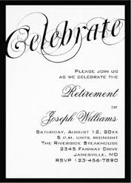 retirement party invitation wording typography maybe ibm stripes for number of years dads worked