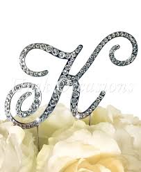 k cake topper unik occasions rhinestone wedding cake topper