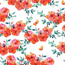 seamless pattern abstract watercolor butterflies flowers and stock