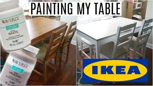painting my ikea table waverly chalk paint no sanding or