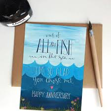 of all the fish in the sea anniversary card by the little posy