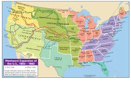 Usa Map 1860 by Westward Expansion Map Of The U S A Inside Westward Expansion