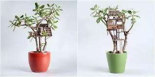 tiny tree houses for houseplants adorable mini houseplant tree