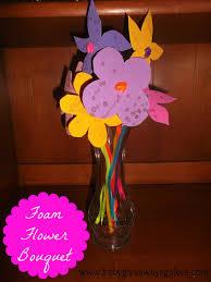 foam flower bouquet kids u0027 craft country fit family
