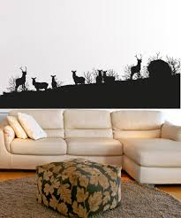 wall decals for home wall vinyl stickers vinyl art decals vinyl wall decal sticker deer herd silhouette 5043