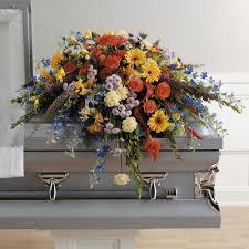 Flowers Columbia Sc - colorful memories casket spray the flower boutique columbia sc