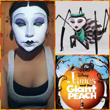 Spider Makeup Halloween by Miss Spider Makeup Tutorial James And The Giant Peach Youtube
