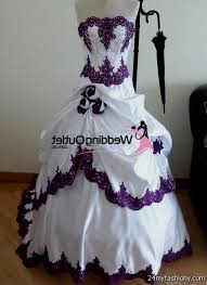 purple and white wedding dress 2016 2017 b2b fashion