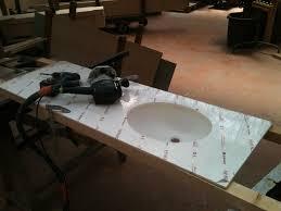 meuble sous vasque sur mesure meuble salle de bain sur mesure u2013 chene et corian u2013 design